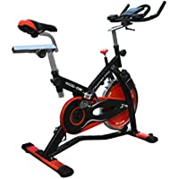 ECO-DE Bicicleta Spinning Trainer Pro. Uso semiprofesional con Pulsómetro, Pantalla LCD y