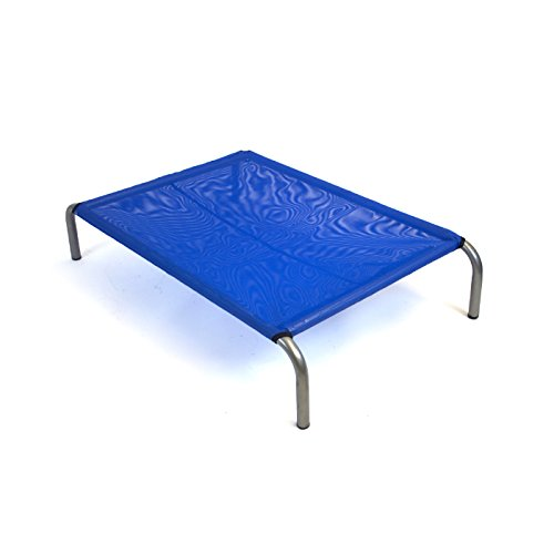 HiK9 The Original Extra Extra Large Mesh Raised Pet Bed (Blue)