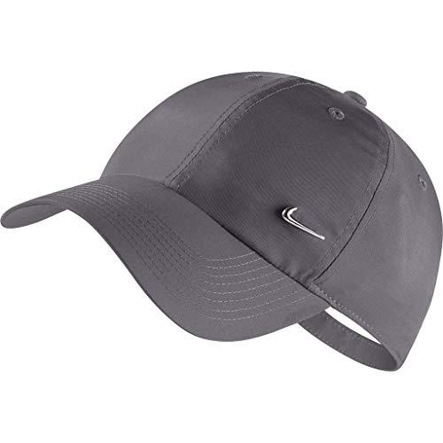 Nike Sportswear Heritage 86 Cap, Dark Grey/Metallic Silver, One Size