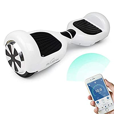 """Bluefin 6.5"""" Classic Swegway Board Self Balancing Scooter with Built-in Bluetooth Speakers and Carry Bag (White with Kart)"""