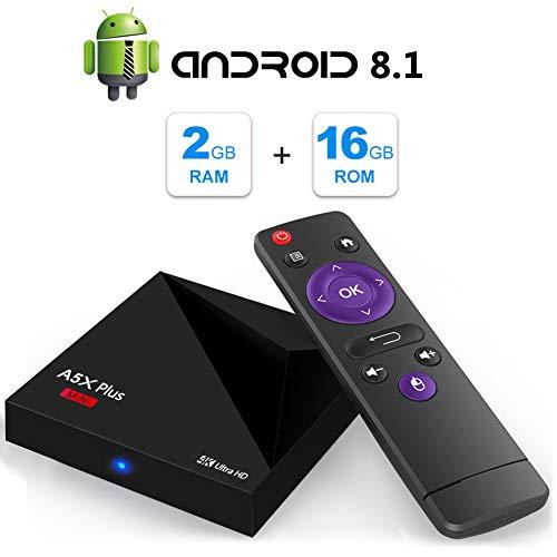 Android 9.0 TV Box, A5X Plus Mini 4K Full HD Smart