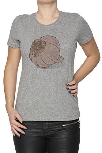 Knoblauch Damen T-Shirt Rundhals Grau Kurzarm Größe M Women's Grey Medium Size M (Frische Diät Lieferung)