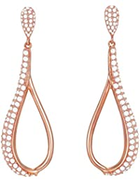 ESPRIT Glamour Women's Earrings ROSE-It-DARIA transparent ESER03073C000 Partially Gold-Plated with Cubic Zirconia