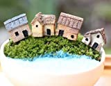 #6: Back Garden Miniature Set of 4 pcs. Small House for Bonsai and Tray Garden Décor