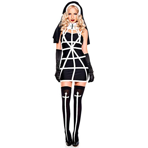 Story of life Sexy Vampir Nonne Kostüm Halloween Damen Kleidung Spiel Uniform Maskerade Adult - Womens Böse Clown Kostüm
