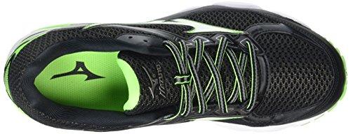 Mizuno Wave Ultima 8, Chaussures de Running Compétition Homme Noir  (Black/White/Green Gecko)