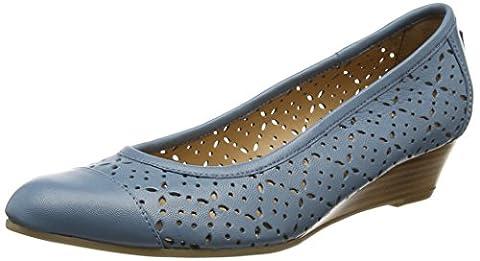 Van Dal Damen Grantham Geschlossene Sandalen mit Keilabsatz, Blau (Jeans), 39 1/3 EU