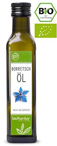 bioKontor // BIO Borretschöl - nativ + kaltgepresst + 100% rein - 250ml