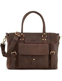 LEABAGS Jersey sac à main rétro-vintage en véritable cuir de buffle