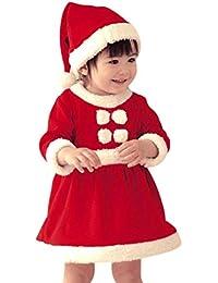 Juleya Bebé Invierno Navidad Cosplay Vestido Traje recién Traje Sombrero 2pcs