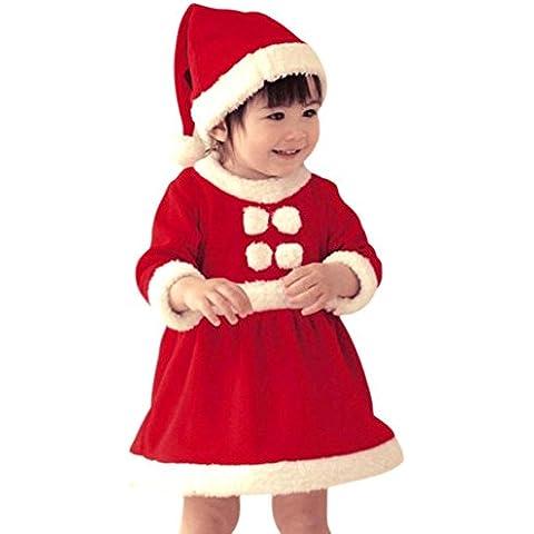 Highdas Costume di Natale Babbo per bambini vestito della Santa cappello di Babbo Natale con i bambini