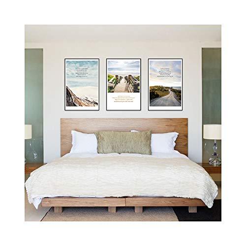 Chaick Berg Europäischer Stil Wasserdicht LichtbestäNdig Hintergrund Quadrat Leinwandbild Wandbilder Wanddekoration Design Wand Bild 3 StüCk,35 * 50CM -