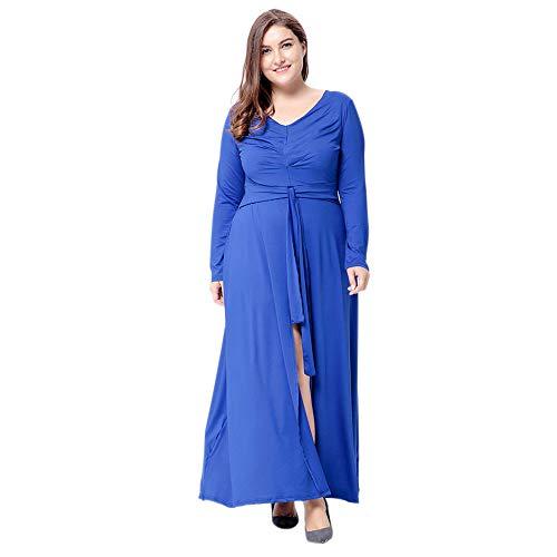 sschnitt Plus Size Split Kleid - Lange Ärmel Party Zeremonie Spalte Übergröße Maxi Strand Kleider XL-6XL ()
