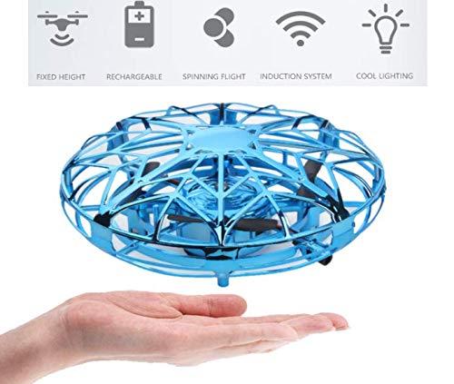 Flybiz Mini Drône UFO drône USB rechargebale pour Enfants et Adultes, Mini Quadcopter Drone de Poche Mouvement Main contrôlée Drone Flying Jouets, Avion Interactive Infrarouge Induction Hélicoptère