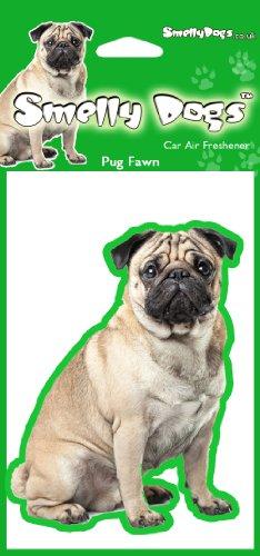MOPS (Fawn) Hund Geschenk–2x Delightful KFZ-Lufterfrischer