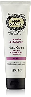 Roots and Wings Organic Gentle Lavender and Chamomile Hand Cream 125ml by Medichem International Ltd