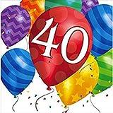 80. Geburtstag Ballon Blast Servietten Badger Inks Tonerpatronen