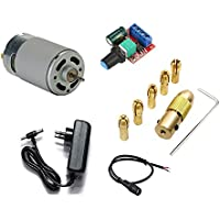 ERH India 12v 555 DC Motor 12000rpm High Speed with Drill Chuck Kit for DIY Projects RS-555 Multipurpose Brushed Motor…