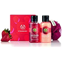 The Body Shop Strawberry Treats(Strawberry Shower Gel 60ml,Strawberry Body Puree 60ml and Lily) Beauty-full cube of mini bath time treats leave skin smelling of our deliciously fruity strawberry scent