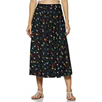 Styleville.in Synthetic a-line Skirt (SSKF350349_Black_S)