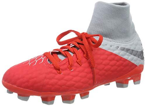 Nike Unisex-Kinder Jr Hypervenom 3 Academy Df Fg Futsalschuhe, Mehrfarbig (Lt Crimson/MTLC Dark Wolf Grey 600), 33 EU