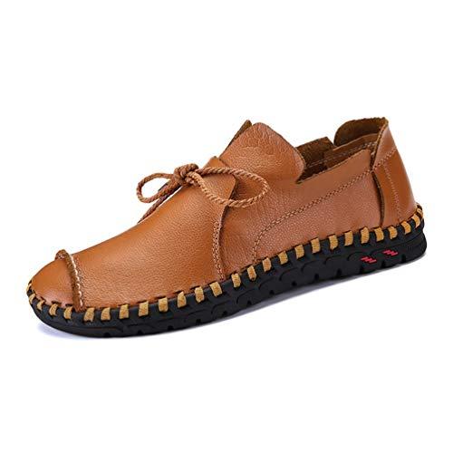 Männer Business Shoes Leder Elegant Hand Nähen Komfortable Büro Flache gelegenheitsschuhe