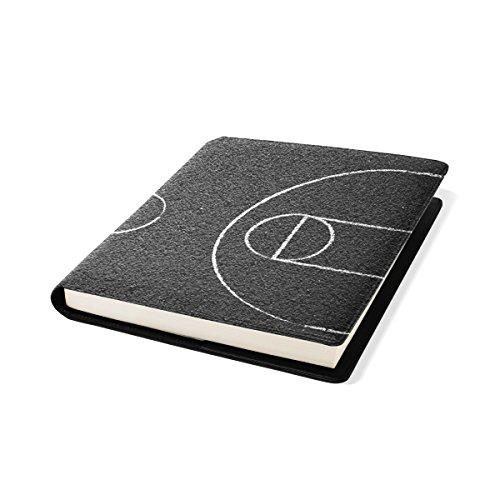COOSUN Street Basketball Court Buch Sox dehnbare Buchumschlag, passt für die meisten Hardcover-Bücher bis zu 9 x 11. Adhesive-Free, PU-Leder-Schule Book Protector