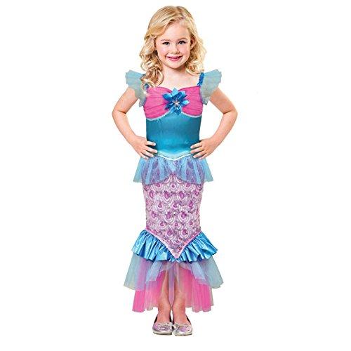 Schimmernde Meerjungfrau Kostüm Kinder Mädchen Amscan