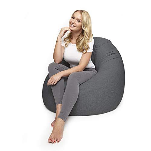 Lumaland Flexi Comfort Sitzsack Premium Bean Bag Sitzkissen Medium 142 x 84 cm Dunkelgrau -