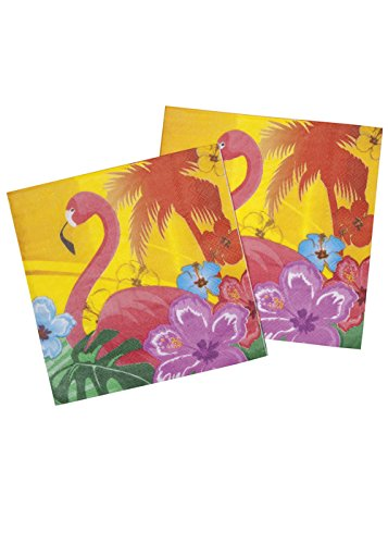 Hawaiian Party serviettes Flamingo Pk12