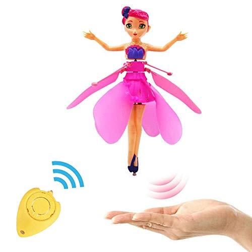 Leegoal bambola fata volante per bambine 6 anni, induzione infrarossa giocattoli telecomandati, illuminazione a led lampeggianti balletto ragazza bambola principessa volante