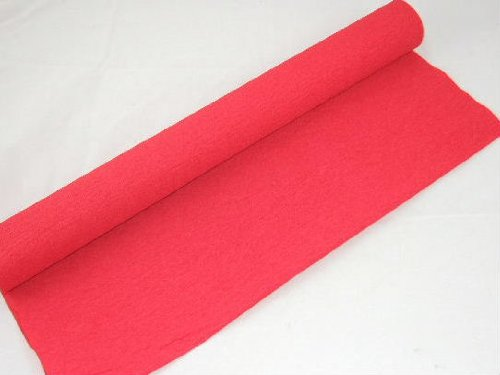Clikkabox: 1 Red Crepe Paper Roll- 10m long x 50cm wide. Many uses as decorations, marketing tools, great favourite with schools and the craft industry