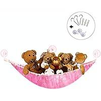 Preisvergleich für Syclecircle Dehnbar Spielzeug Hängematte Aufbewahrung Netz für Plüsch Kuscheltiere Groß Ecke Spielzeug Organizer für Kinderraum Schlafzimmer Badezimmer (Rosa 180x120x120cm)