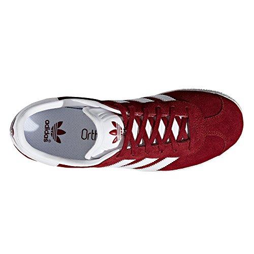 Chaussures Femmes Adidas Gazelle Rose Et Bleu Sneaker Bordeaux / Blanc