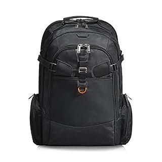 Everki Titan – Laptop Rucksack für Notebooks bis 18,4 Zoll (46,7 cm) mit durchdachtem Fächer-Konzept, viel Stauraum und weiteren hochwertigen Funktionen, Schwarz