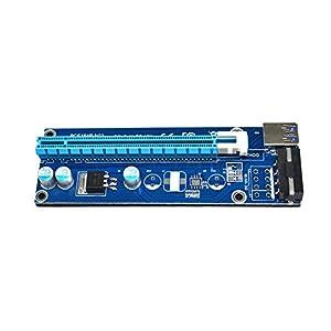 Demiawaking USB 3.0 PCI-E Express 1x to16x cavo di alimentazione SATA adattatore scheda di riser (60cm)