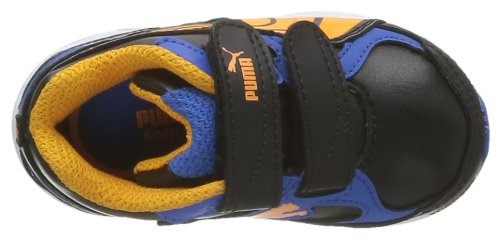 Puma Axis 2 Sl V Kids, Baskets mode bébé garçon Noir (Black/Blue/Bright Marigold)