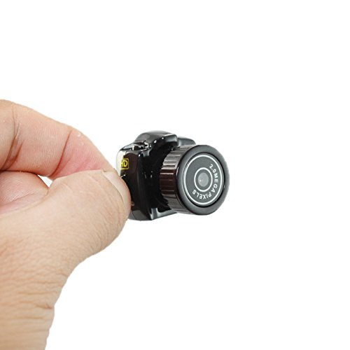 Dizaul Mini Spionagekamera | MicroSD | Aufnahmefunktion | Schlüsselanhänger | Miniatur Spiegelreflex-Kamera | Schwarz
