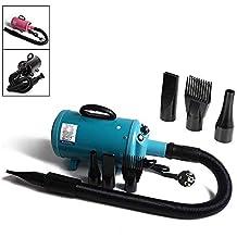 Display4top Pantalla Profesional 2800 W Low Noise Perros Cuidado secador Calor Ajustable y Velocidad (azul