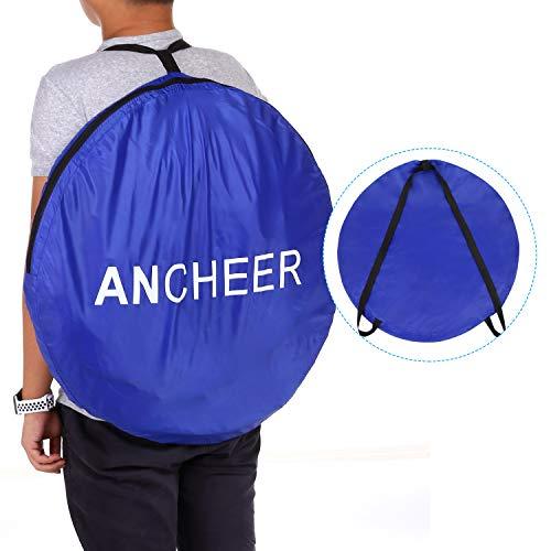 ANCHEER Ultraleichtes Segeltuch Umkleidezelt Pop up Zelt tragbares Duschzelt Outdoor WC Zelt Toilettenzelt für Camping (Blau) - 7
