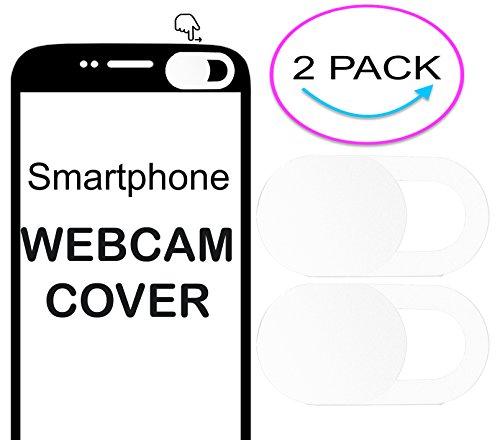 2x Ultra dünne privcay Webcam Kamera Cover für ZTE Prelude +–weiß (Prelude 2 Cover)