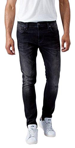 Mavi Herren Skinny Jeans James Schwarz (smoke berlin comfort 15148)