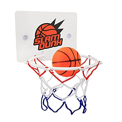 Eunicom Slam Dunk Bedroom Bathroom Toilet Office Desktop Mini Basketball Decompress Game Gadget Toy Home Decor for Kid Education and Basketball