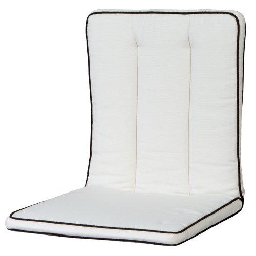 MBM 156149 Auflage Romeo für Sessel, Sitz- und Rückenkissen, natur