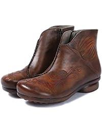 7705faa135d21 Shoe house Chelsea Bas-Top Chaussures Western Bottines en Cuir rétro Fleur  sculpté Bottes de Mode pour Enfants…