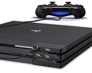 PS4 Pro USB Hub 3.0 - ElecGear 5-ports USB Extender