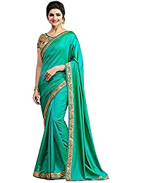 Jashvi Creation Women's Pepar Silk Partywear New Collection Saree With Embroidered Blouse Piece (party Wear,wedding...