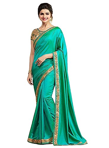 Jashvi Creation Women's Pepar Silk Partywear New Collection Saree With embroidered Blouse...