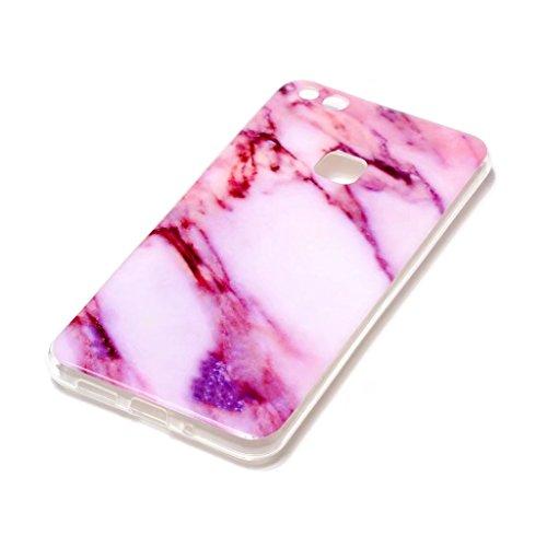 Coque pour iPhone SE/5/5S MUTOUREN haute qualité Soft TPU gel phone case Anti-choc Housse Etui 360 degrés Protection Anti Rayure phone Case Nouveau style- Rouge noir1 Marbre N04