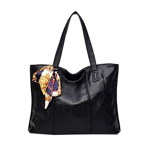 Yy.f Neue Handtaschen Schultertasche Diagonal Damen Arbeiten Beutelhandtaschen Damen Wasserdichte Umhängetasche Handtasche 3 Farb Black
